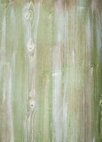 Detail of  green stained  wooden planks Royalty Free Stock Image