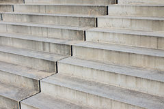 Detail of grey stairs. Close-up of some barren concrete stairs Royalty Free Stock Photo
