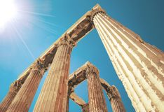 Detail - Griekse Ionische kolom royalty-vrije stock foto