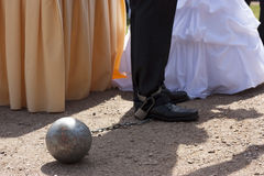 Detail of a groom in chains Royalty Free Stock Photos