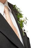 Detail of a groom's suit Royalty Free Stock Photo