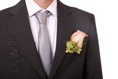 Detail of a groom's suit Royalty Free Stock Images