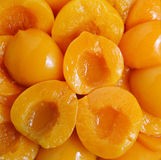 Detail of a group of peaches Stock Image