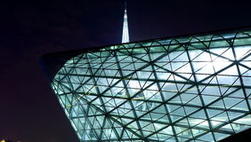 modern glass building night Stock Photography