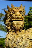 Detail of the guardian statue. Imperial City. Hué. Vietnam Stock Image