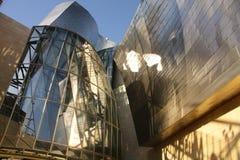 Detail of  Guggenheim Museum, Euskadi, Spain. Detail of the facade of titanium the Guggenheim Museum, Bilbao, Euskadi, Spain. Basque Country Royalty Free Stock Image