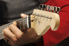 Detail of guitar Stock Photography