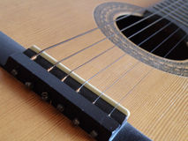 Detail of a guitar Royalty Free Stock Image