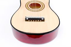 Detail of a guitar. Close up, ,image of a Royalty Free Stock Photo