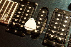 Detail of guitar's pickups Royalty Free Stock Photo