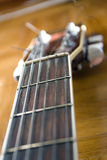 Detail of a gutiar. Detail of a country and western guitar Royalty Free Stock Photos