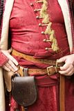 Detail of Gyulaffy Laszlo traditionalist banderium weapons and clothes in Badacsony in 09. September 2018 royalty free stock photos