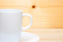 Detail of half cup of coffee with space for text Royalty Free Stock Photos