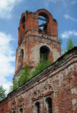 Detail of Half-ruined Russian Orthodox Church Royalty Free Stock Photography