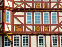 Detail half-timbered house. Detail of a half-timbered house in Hessenpark, Germany royalty free stock image