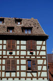 Detail of Half-timbered House. Detail of an Alsatian House. Strasbourg, France Stock Photo