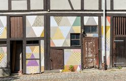 Detail of a half-timbered house. On the Courtyard of Lucas Cranach in Wittenberg Royalty Free Stock Photos
