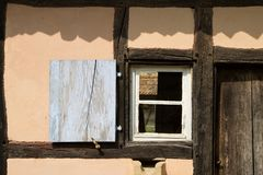Detail of half timbered house at the ecomusee in Alsace Stock Images