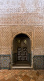 Detail of  Hall of the Ambassadors  at Royal complex of Alhambr Stock Image