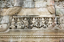Detail of Hall of the Dancers, Preah Khan Temple Royalty Free Stock Photography