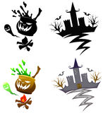 Detail Halloween decoration set Royalty Free Stock Image