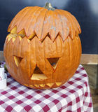 Detail of hallowen pumpkin. In my town Stock Images