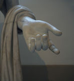Detail of the hand from ancient white marblel statue National Ar Royalty Free Stock Images