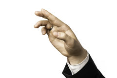 Detail of a hand of a businessman Royalty Free Stock Photo