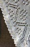 Detail of hand knitted shawl Stock Photo