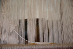 Detail of a hand loom stock photos