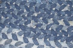 Handmade Blue Denim Rug Royalty Free Stock Photography
