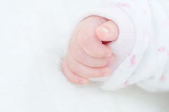 Detail of the hand of a newborn baby Stock Photography