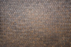 Detail of handmade bamboo weave texture for background. Detail of dark handmade bamboo weave texture for background Royalty Free Stock Photography