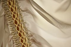 Embroidery and silk fabric #2 royalty free stock image