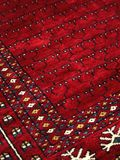 Detail of Handmade Indian Rug. Detail of a rich, patterned handmade Indian rug royalty free stock image