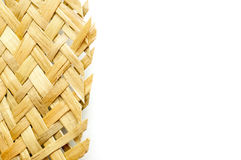 Detail of an handmade wicker. And copy space Royalty Free Stock Photos