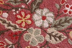 Detail of handmade wool area rug Royalty Free Stock Photo