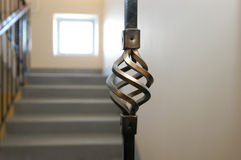 Detail of handrail. Bronze element of an interior of a house Stock Photography