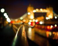 Blurred Tower Bridge, London royalty free stock image
