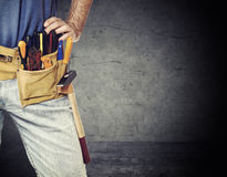 Detail of handyman Royalty Free Stock Photography