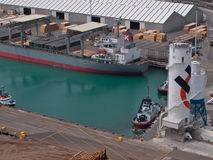 Detail of a harbour. Seen from above Stock Photo