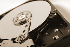 Detail of a hard disc Royalty Free Stock Photos