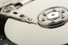 Detail of a hard disc Royalty Free Stock Photo