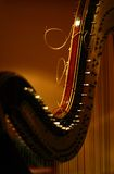Detail of harp Stock Photography