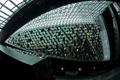 Detail of Harpa concert hall architecture in Reykjavik Royalty Free Stock Image