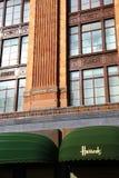 Detail of Harrod's building in Knightsbridge, London royalty free stock photos
