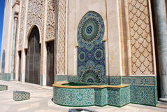 Detail of Hassan II Mosque Stock Photography