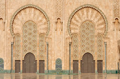 Detail of Hassan II Mosque in Casablanca Stock Photo