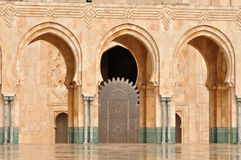 Detail of Hassan II Mosque in Casablanca Royalty Free Stock Photography
