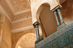 Detail of Hassan II Mosque in Casablanca stock photos